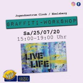Graffiti Workshop am 25. Juli