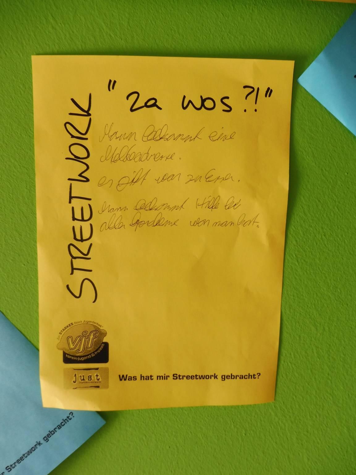 "Streetwork: ""za wos?!"""
