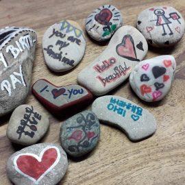 Unsere Valentins-Steine