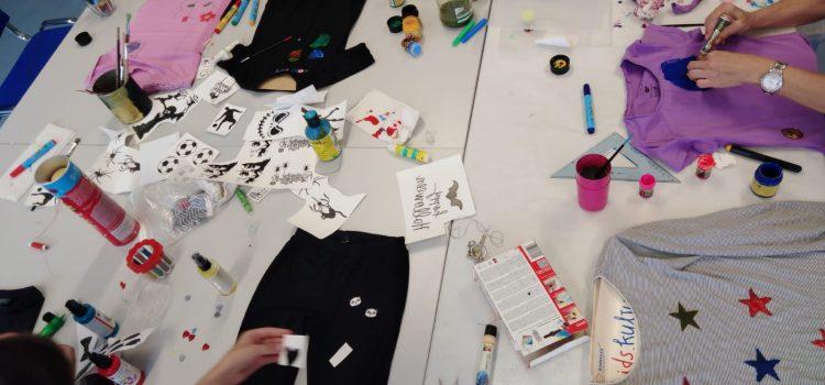 Fotos vom Upcycling im TEENIEclub ZDF