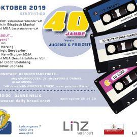 Wir feiern am 17. Oktober den 40. Geburtstag unseres Vereins JUGEND & FREIZEIT…