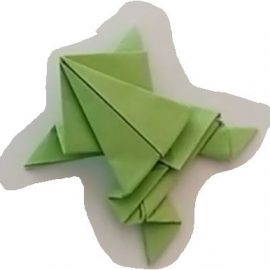 Basteltipp: Origami-Frosch falten