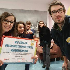 cloob erhält die Auszeichnung zum gesundheitskompetenten Jugendzentrum